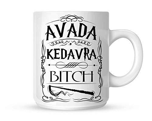 Mug Avada Kedavra Bitch Harry Potter White 10oz