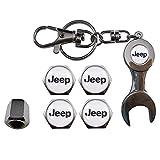 Ludostreet ref0011 Tapones Válvulas de Rueda (X4) + Llavero de Coche (Jeep)