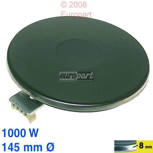 EGO Kochplatte, Herdplatte mit Edelstahl-Überfallrand 8mm und Schraubverschluß. Ø145mm, 230V, 1000W - 1214453194, 1214453022