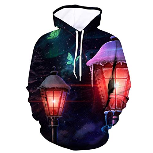 Buy Men's 3D Printed Jacket Long Sleeve Hooded Coat Hoodie Blouse Tops Winter Fashion Mens 2019 Blac...