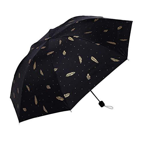 Möbel Liefert Cute Printing Regenschirm Männer und Frauen Taschenschirm Schwarz Kleber Regenschirm Dual-Use-Sonnenschutz Anti-UV-Regenschirm Schwarz Regenkleidung