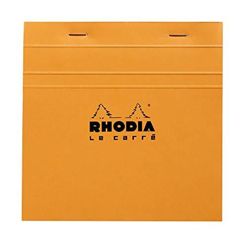 Rhodia Le Carre Head Stapled Pad, 148x148mm, Square ruling - Orange