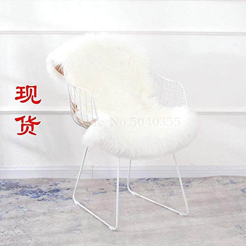HJFGSAK Silla Hollow Wire Chair Wrought Iron Modern Minimalist Home Casual Restaurant Living Room Golden Chair,0.0. 5