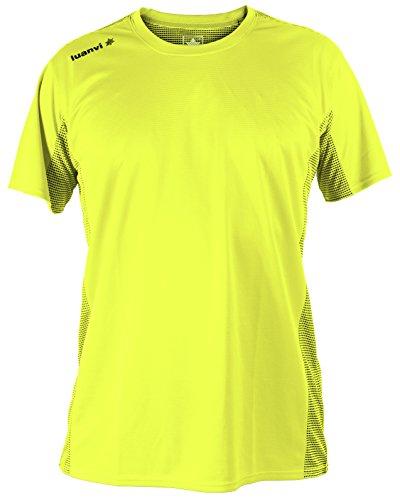Luanvi Nocaut Plus CRO Pack de 5 Camisetas, Hombre, Amarillo flúor, XL