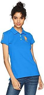 U.S. Polo Assn.. Women's Neon Logos Short Sleeve Polo Shirt