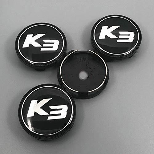 WOZUIMEI 1 Juego de Tapa de buje Central de Rueda de Coche, Logotipo de Insignia de Tapa de buje Central de Rueda de Coche para Kia K3 K5, 56 mm