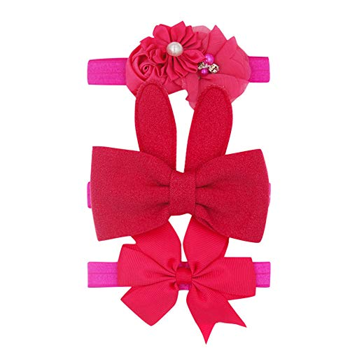 Nuevo 3 unids/lote, lazo de fieltro de lentejuelas, diademas elásticas de flor de loto, accesorios de fotografía para niños, conjuntos de regalo de Navidad bonitos para niñas y bebés-Veintidós