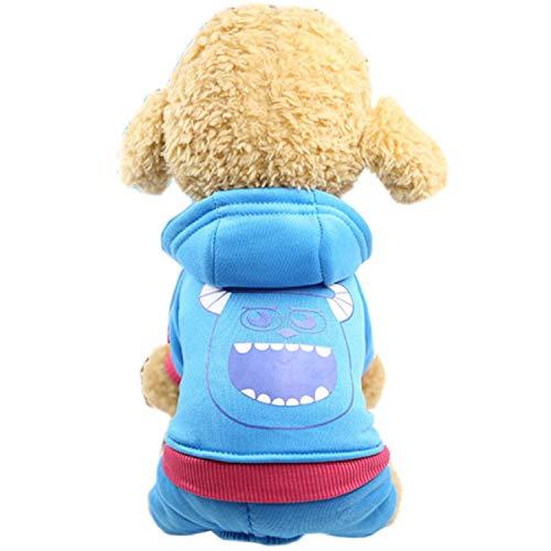 KKDIY Mono de Moda para Perros y Cachorros, Mono para Perros pequeños, Yorkshire Terrier, Abrigo Shih Tzu, Ropa Suave y cálida para Mascotas, Ropa para Perros