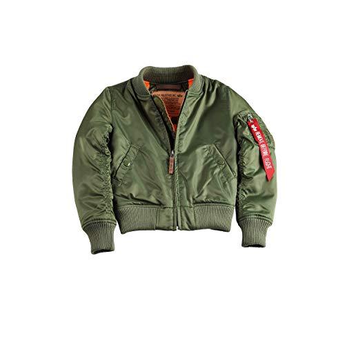 ALPHA INDUSTRIES Kinder Bomberjacke MA-1 VF 59, Farbe:sage-Green, Größe:92