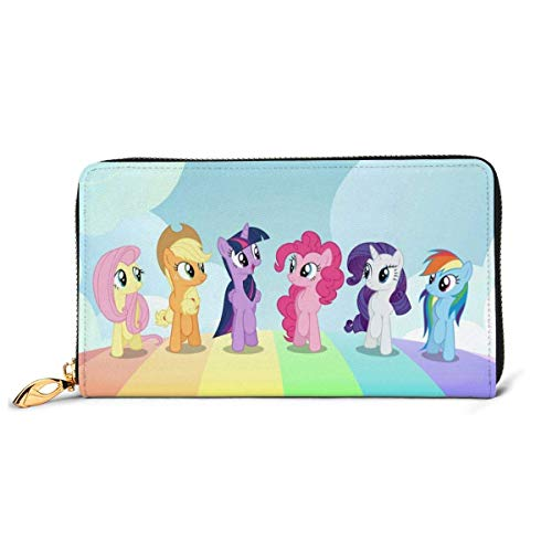 XCNGG Anime Rainbow Pony Geldbörse RFID Blocking Echtes Leder Zip-Around Geldbörsen...