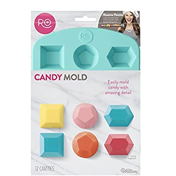 Wilton Silicone Gem Shapes Candy Mold 12-Cavity
