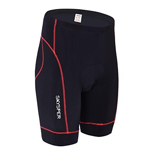 SKYSPER Pantalones Cortos de Ciclismo Bicicleta para Hombres Mujeres 3D Gel Acolchado Transpirable y Cómodo Secado Rápido para Correr Senderismo Bici