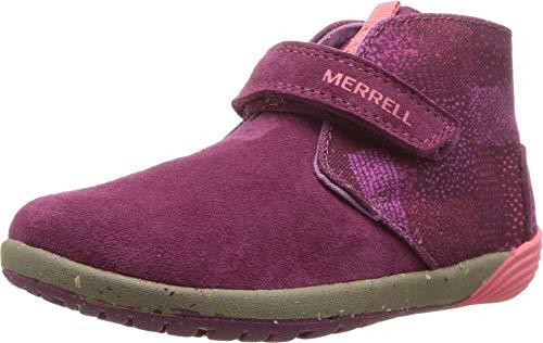 Merrell Kids' Unisex M-Bare Steps Boot Fashion Boot, Berry, 7 Wide US Toddler