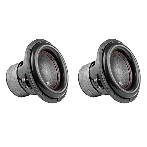 AudioPipe TXX-BDC4-12 Dual 4 Ohm 12 inch 2,200 W Car Speaker Subwoofer, Black (2 Pack)