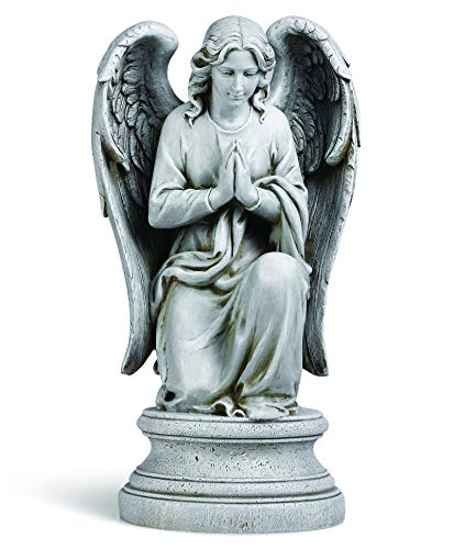 Joseph's Studio by Roman - Praying Angel Statue, 17.75' H, Garden Collection, Resin and Stone, Decorative, Religious Gift, Home Outdoor and Indoor Decor, Durable, Long Lasting