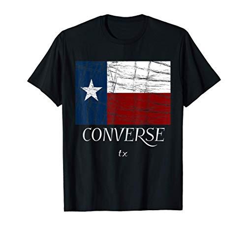 Converse TX   Vintage Texas Flag Apparel - Graphic Camiseta