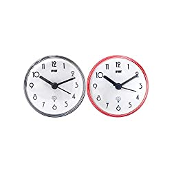 IPOUF Bathroom Clock Waterproof Suction Cup Shower Mini Bath Wall Clock for Washroom/Kitchen (2pack)