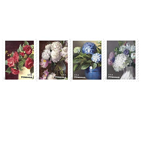 Flowers from The Garden 1 Strip of 50 U.S. First Class Postage Stamps Celebrate Beauty Wedding (50 Stamps)