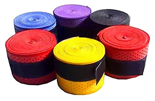 Toyshine Multicolour Super Absorbent Non-Slip Grip for Badminton Racket (Pack of 6) SSTP