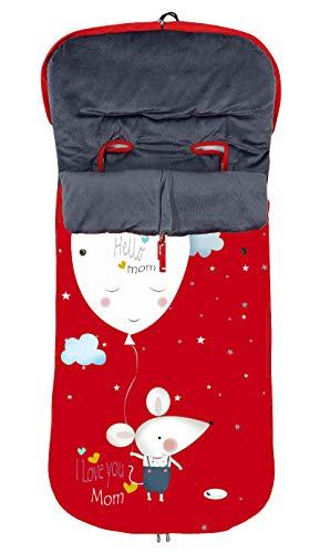 Saco POLAR de Invierno de Silla de Paseo - (Universal-Bugaboo-Mclaren) - Color: Rojo - OFERTA
