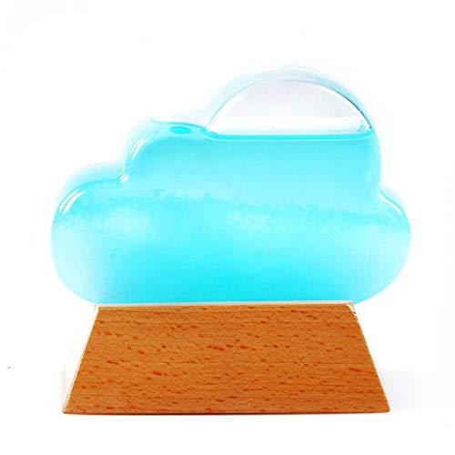 Glas Storm Weerstations Water Drop Predictor Voorspelling, Weersverwachting Fles Storm Fles Cloud Weer Fles Verjaardagscadeau Accessoires Voor Thuis Met Houten Basis, Stuur Warmte Om U Liefde