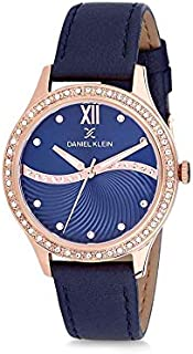 Daniel Klein Womens Quartz Watch, Analog Display and Leather Strap DK12207-6