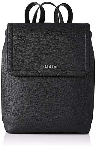 Calvin Klein Flap BP MD, Accesorios para Mujer, Black, One Size