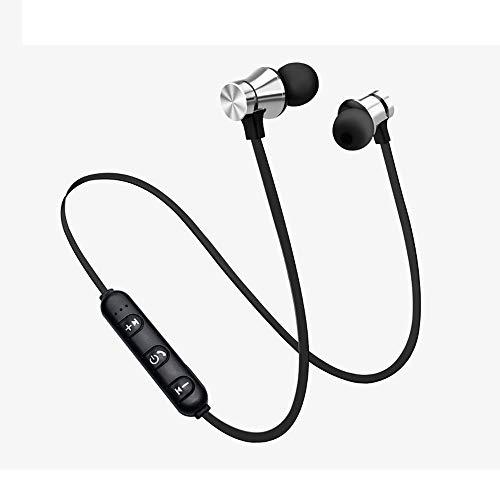 Yowablo Kopfhörer Ohrhörer Headset Bluetooth 4.2 Stereo-Kopfhörer-Headset Drahtloser magnetischer In Ear Ohrhörer ( Silber- )