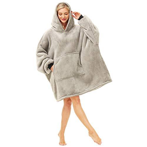 Kipswiza Oversized Blanket Hoodie with Deep Pockets,Long Sleeves, Hood, Hoodie Blanket Sweatshirt,...