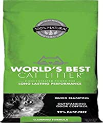 OUTSTANDING ODOR CONTROL — Keep your cat's litter box smelling fresh thanks to a natural unscented litter with long-lasting odor control. QUICK CLUMPING & EASY SCOOPING — No more chiseling and scraping thanks to a fast-acting natural litter that leav...