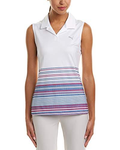 PUMA - Golf-Blusen für Damen in Helles Weißes Plasma, Größe M