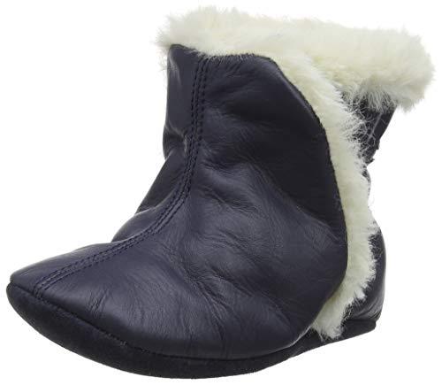 Robeez Bootie, Chaussures de Naissance Garçon Unisex Kinder, Bleu (Marine 10), 23 24 EU