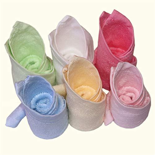 Bluestar Bambou 100% Naturel pour bébé Serviettes pour Bébé, doux et absorbant Serviettes pour les peaux sensibles, bébé douche cadeaux, 26 26 cm (6)