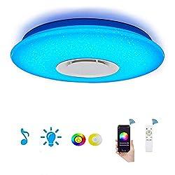 ELINKUME LED Deckenleuchte Dimmbar Farbwechsel 36W Sternenlicht mit Fernbedienung