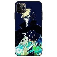 ワールドトリガー 携帯電話ケース 強化ガラスハードシェル 耐衝撃 防護カバー アニメファン 誕生日プレゼント (iPhone Xs,B)