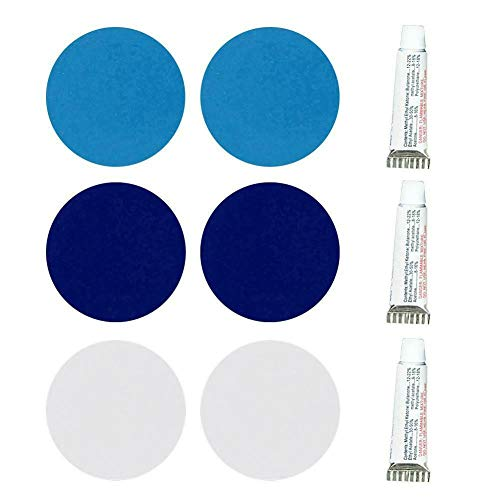 ARONTIME 3Pcs/Set PVC Puncture Repair Patch Glue Kit for Inflatable Boat Swimming Pool