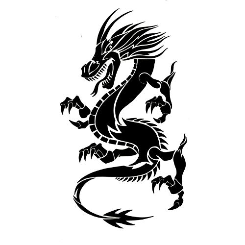 EROSPA® Tattoo-Bogen / Sticker temporär - Drachen / Dragon - 19 x 12 cm