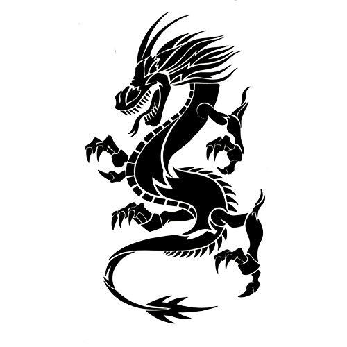 EROSPA® Tattoo-Bogen / Sticker temporär - Drachen / Dragon - 10,5 x 6 cm