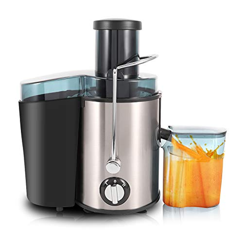 Juice Extractor Juicer Wide Mouth Juice Extractor Centrifugal Juicer Machines Dual Speed Centrifugal Juicer Stainless Steel Juicers for Fruits and Vegs Easy to Clean BPA-Free 400W