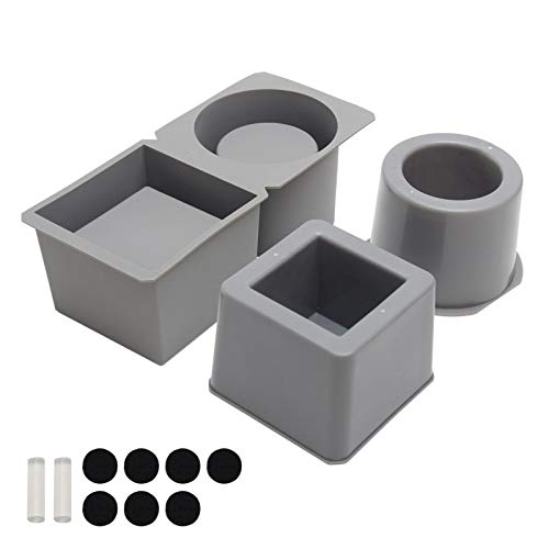 2 moldes de silicona para plantas con forma de flor de cemento, moldes de silicona para macetas de hormigón, macetas suculentas, cerámica, arcilla, artesanales, cerámica, forma cuadrada y redonda