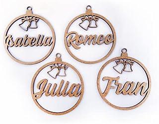 Bolitas para el árbol de Navidad Personalizadas - Bolas de Navidad Personalizadas - Bolas en madera Personalizadas Para Na...