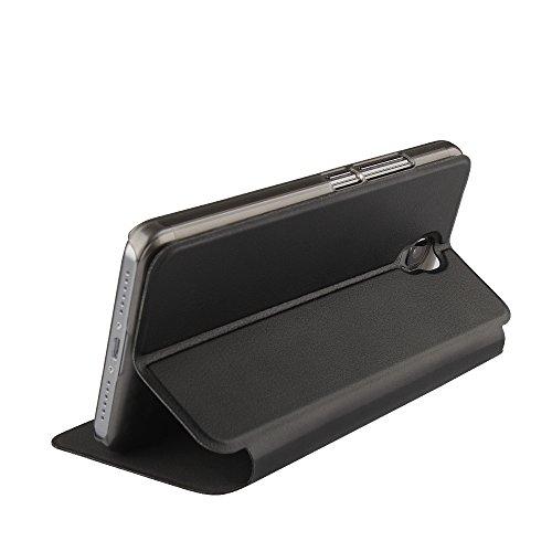 Oukitel K6000 Plus Case Hülle 2 in 1 Flip Hülle Handysocken Schutzhülle Standfunktion Tasche & - Beschützer Smartphone (Schwarz)