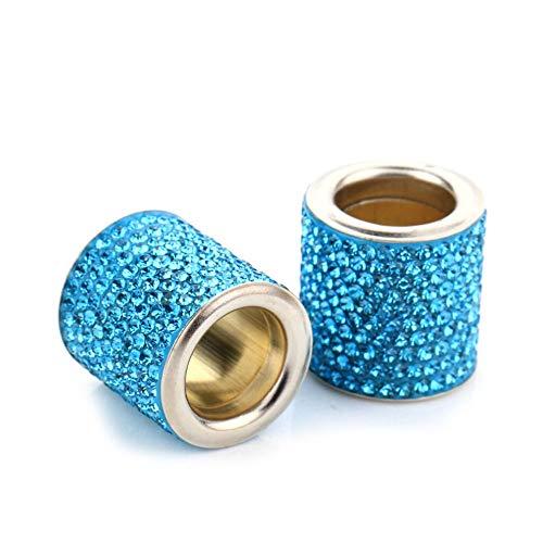 DENGZ Collares de reposacabezas para Asiento de Coche, Accesorios para Mujer, decoración Bling Bling Crystal Diamond Ice, para automóvil, camión, vehículo Todoterreno, Azul Claro