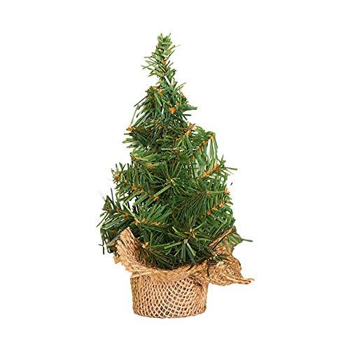 Outflower. 1pcs Artificiale Mini Albero di Natale Base in Lino Piccolo Albero di Natale Decorazione da tavola Decorazioni Natalizie Adatte per la Decorazione del Centro Commerciale di casa Size 20CM