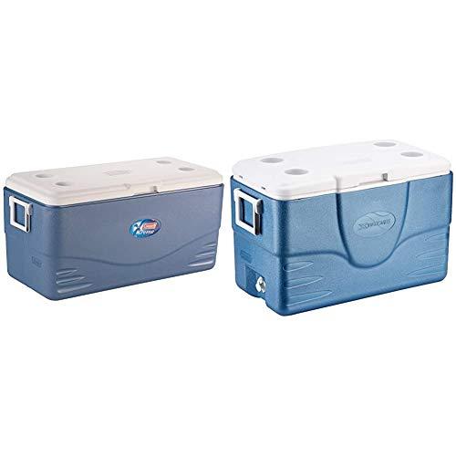 Coleman 100QT Kühlbox Xtreme, 90,8 l, eisblau/weiß & 52QT Kühlbox Xtreme, blau/weiß, 49 l