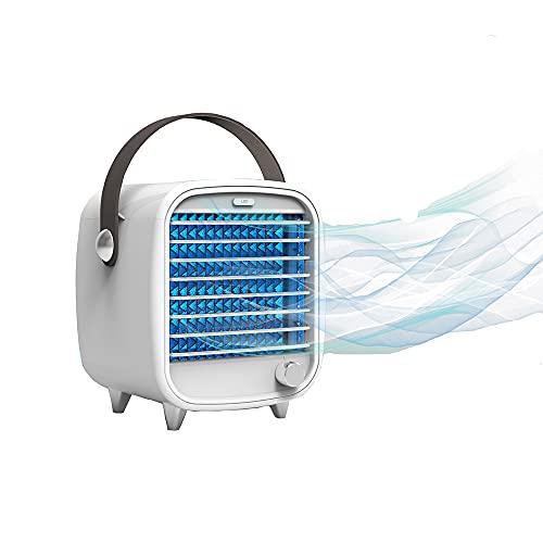 GKYI Condizionatore portatile USB Desktop Mini refrigeratore ad aria integrato, con ventola di raffreddamento a vento, luce notturna, silenziosa, silenziosa, per studenti, ufficio