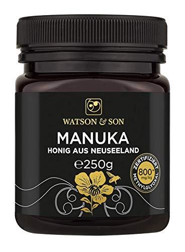 Watson & Son Manuka Honig MGO 800+ 250g, zertifizierte Premium Qualität aus Neuseeland