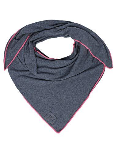 Cashmere Dreams Dreieckstuch mit Kaschmir - Hochwertiger Schal im Uni Design für Damen Jungen und Mädchen - XXL Hals-Tuch und Damenschal - Strick-Waren für Sommer und Winter 150cm x 120cm jeans