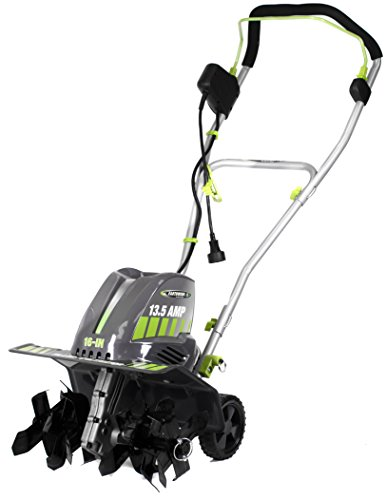 Earthwise TC70016 16-Inch 13.5 Amp Corded Electric Tiller/Cultivator, Grey