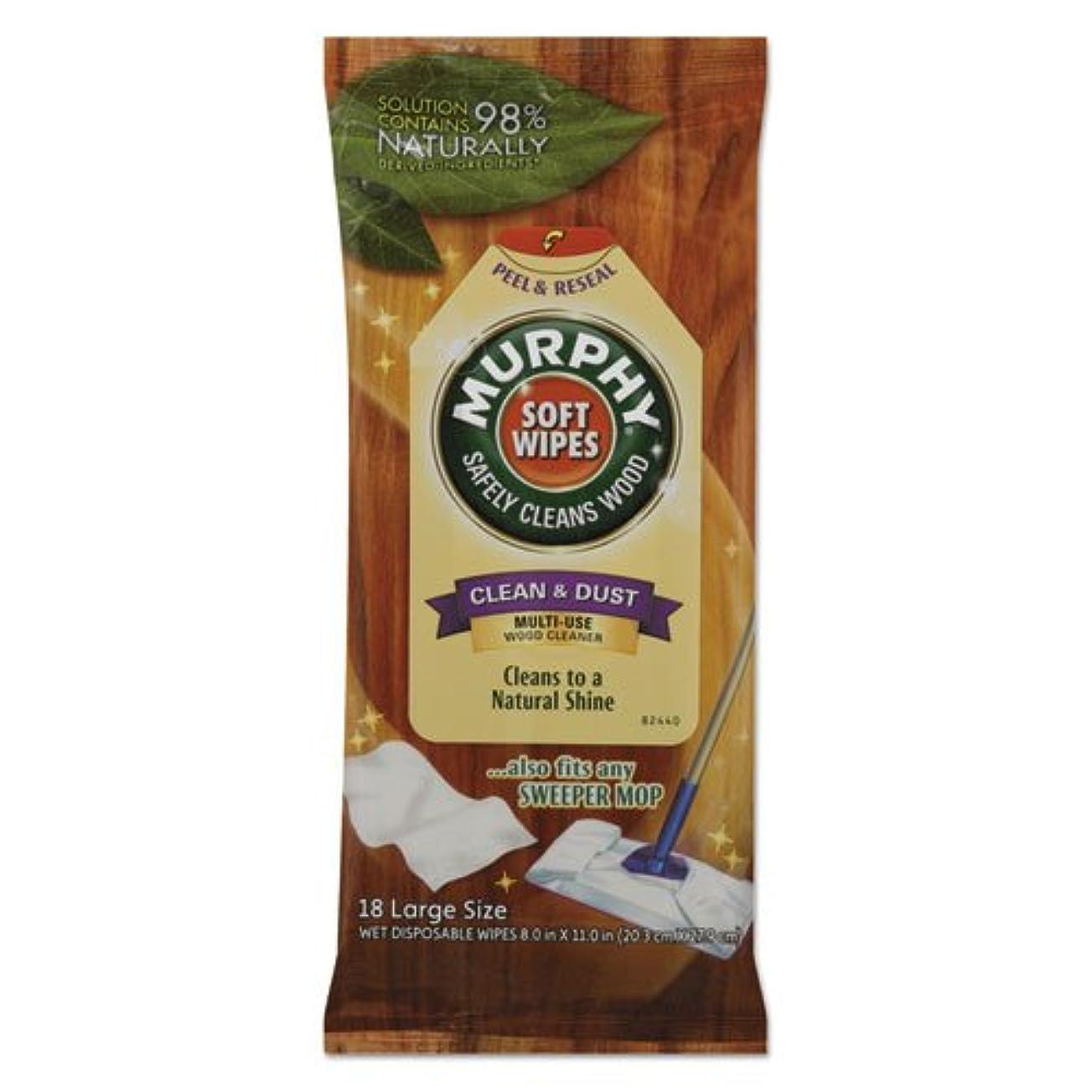 重くするそれぞれ粘土ソフトワイプ布8?x 11ホワイト18?/パックby Murphy Oil Soap